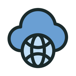 Cloud Internet Colored Outline Icon