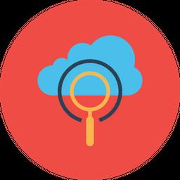 Cloud, Server, Data, Optimization, Seo, Web, Search Icon