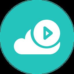 Cloud, Storage, Online, Data, Big, Database, Play Icon
