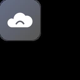 Cloud, Storage, Online, Data, Big, Database, Sad Icon png