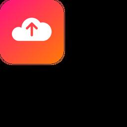 Cloud, Storage, Online, Data, Big, Database, Upload Icon