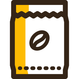 Coffee Colored Outline Icon