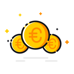 Coin, Currency, Euro, Money, Price, Finance, Financial Icon