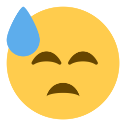 Free Cold Face Sweat Sad Emoji Icon Download In Svg Png Eps
