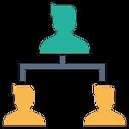 Company, Organization, Structure, Hierarchy, Leader, Subordinates, Nodes Icon