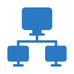 Computer network Flat Icon