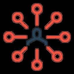 Connection, Man, Node, User, Link, Hierarchy, Center, Ceo Icon