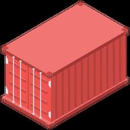 Container Isometric Icon