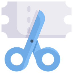 Coupon Cutting Icon