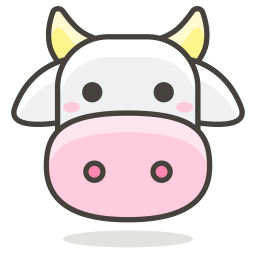 Cow Emoji Icon of Colored Outline style - Available in SVG, PNG, EPS, AI & Icon fonts