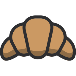 Croissant, Bread, Food, Muffin, Roll Icon