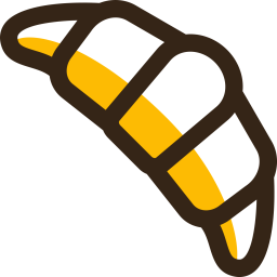 Croissant Colored Outline Icon