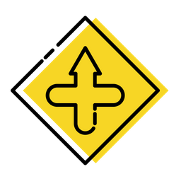 Cross Intersection Icon