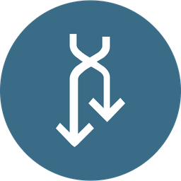 Cross, Reverse, Connection, Down, Arrow, Arrows Icon png