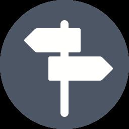 Cross roads Icon