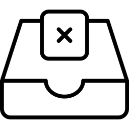 Cross With Tray Line Icon