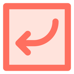 Curved down left arrow Icon
