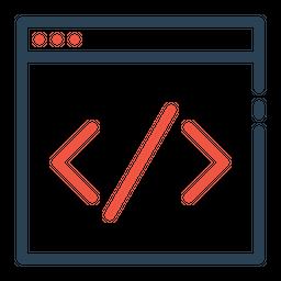 Custom, Coding, Website, Service, Online, Portal, Seo Icon