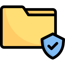 Data Protection Colored Outline Icon