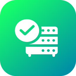 Database, Storage, Data, Accept, Valid, Table, Files Icon