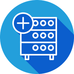 Databse, Hosting, Server, Rack, Add, Data, Storage Icon