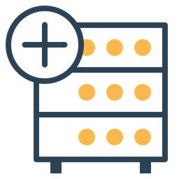 Databse, Hosting, Server, Rack, Add, Data, Storage Icon