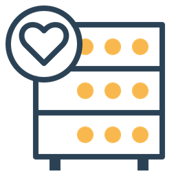 Databse, Hosting, Server, Rack, Favorite, Like, Heart Icon
