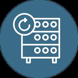 Databse, Hosting, Server, Rack, Refresh, Data, Center Icon