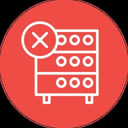 Databse, Hosting, Server, Rack, Remove, Data, Storahe Icon
