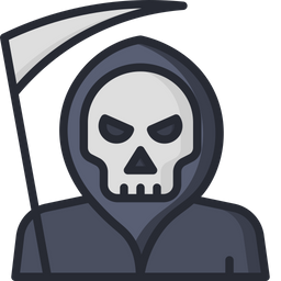 Death scythe Colored Outline Icon