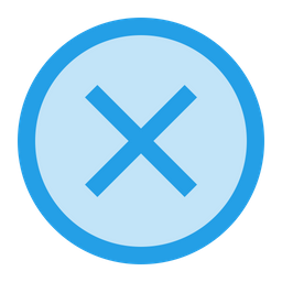 Delete, Remove, Clean, Junk, Cross, Round, UI Icon