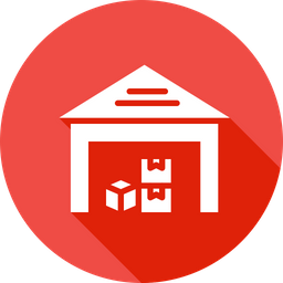 Delivery, Transport, Warehouse, Godown, Storage, Storehouse Icon