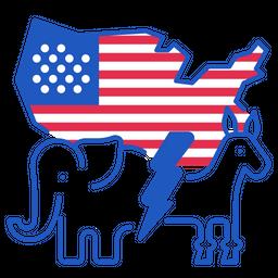 Democratic Vs Republic Icon