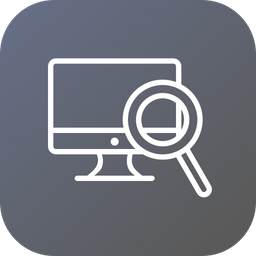 Device, Seo, Desktop, Monitor, Display, Search, Tool, Optimization Icon