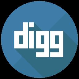 Digg Flat  Logo Icon
