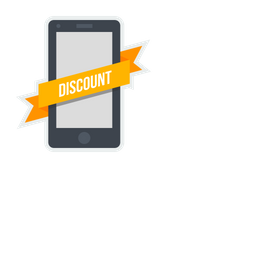 Discount, Mobile, Ribbon, Label, Tag, Sticker, Shopping Icon