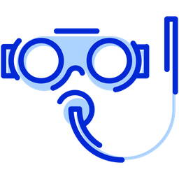 Dive Mask Colored Outline Icon