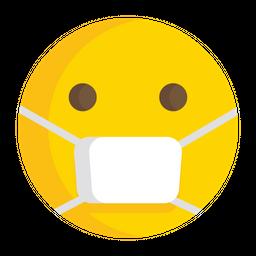 Face With Medical Mask Flat  Emoji Icon