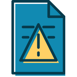 Document Alert Colored Outline Icon