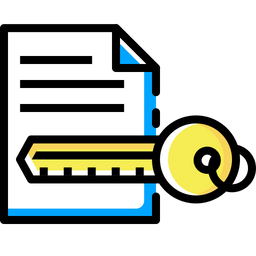 Document, Paper, Key, Secure, Private, Password, Protected Icon