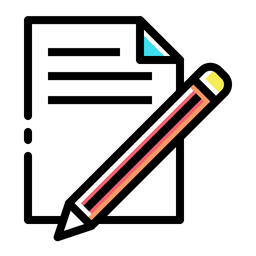 Document, Paper, Write, Pencil, Pen, Drawing Icon