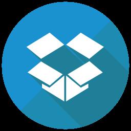 Dropbox Flat  Logo Icon