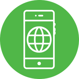 Earth, World, Wide, Web, Circle, Connect, Round Icon