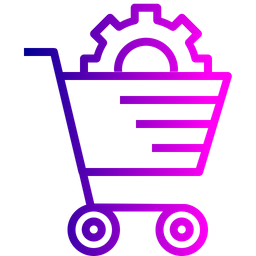 Ecommerce, Services, Solution, Cart, Online, Shopping, Settings Icon
