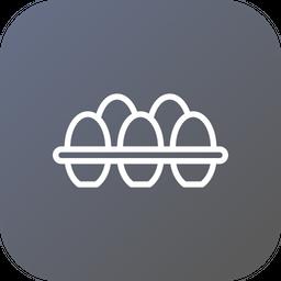 Egg, Rack, Tray, Nonveg, Hen, Food Icon