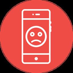 Emoji, Sad, Face, Round, Circle, Emotion, Moodless Icon