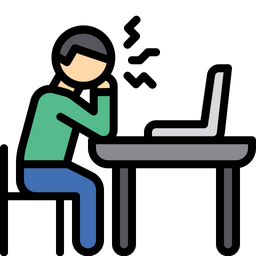 Employee in stress Icon