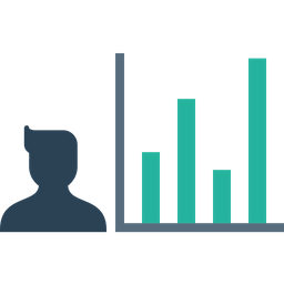 Employee, Performance, Chart, Analysis, Graph, Numbers, Report Icon