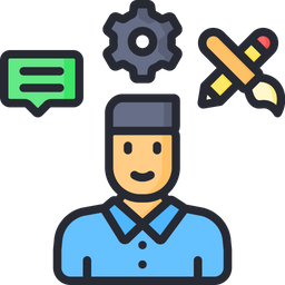 Employee Skills Icon Of Colored Outline Style Available In Svg Png Eps Ai Icon Fonts