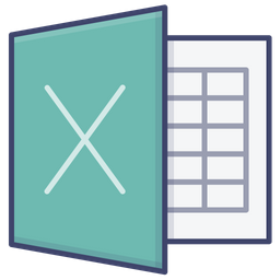 Excel Logo Icon Of Colored Outline Style Available In Svg Png Eps Ai Icon Fonts